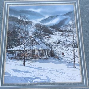 G Webb Christmas in the Smokies framed print